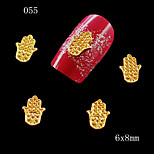 10pcs 3D DIY Nail Art Golden Silver Fingers Lovely Nail Art Supplies Alloy Decoration 6*8cm