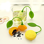 Silicone  Lemon Shaped Drinker Teapot Teacup Herb Tea Strainer Filter Infuser Bag (Random Color)