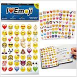 960pcs / pack 2015new emoji adesivos emoji populares adesivos para telefone celular decoração quartos dos miúdos em casa
