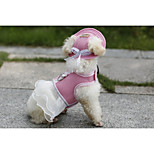 Dog Dress Cute Princess Lace Skirt Harness Pet Wedding Dress Dog Hat Cap Leash