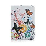 Szkinston Schmetterlings-Kastenabdeckung stoßfest mit Standplatz-Schlafmagnetmuster Vollkörper-PU-Leder für alle 9.5 - 10.5-Zoll-Handy