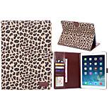 style léopard fentes pour cartes pu étui en cuir& portefeuille avec support pour air iPad 2 (couleurs assorties)
