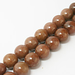 Beadia 39Cm/Str (Approx 39Pcs) Natural Stone Beads 10mm Round Strawberry Crystal Quartz Loose Beads DIY Accessories