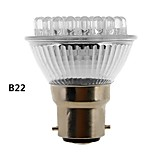 B22/E27 2W 38-LED 120-155LM Natural White Light LED Spot Bulb (230V)