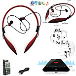 Big Shark HBS-800 Headphone Bluetooth Design Wireless Sport Headset EarBuds Stereo for Phones/PC Red/Black