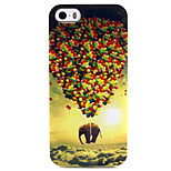 Fashion Design COCO FUN® Elephant & Balloon Pattern Soft TPU IMD Back Case Cover for iPhone 5/5S