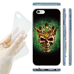 Crown Skulls Pattern TPU Soft Back Case for iPhone 6/6S