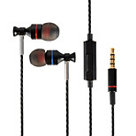 LAPAS Stainless Steel 3.5mm Plug In-Ear Earphones with Microphone for Samsung and Smartphones