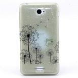 Dandelion Pattern Glitter TPU Cell Phone Soft Shell For Sony E4