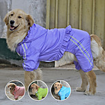 PETSOO Large Dog Raincoat Waterproof Biger Pet Clothes Reflective Double layer Mesh