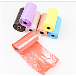 Multi Color Garbage Bags for Dogs Cats  20*15 Bags 32*27 cm