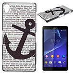 Black Anchor Pattern TPU Material Soft Phone Case for Sony Z1