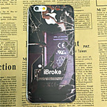iBroke Pattern Transparent TPU Soft Back Case for iPhone 6/6S