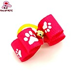 FUN OF PETS®Lovely Pure Color Ribbon Style  Bead Decorated Rubber Band Hair Bow for Pet Dogs  (Random Color)
