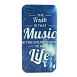 Music Life Pattern PC Material Phone Case for iPhone 4/4S