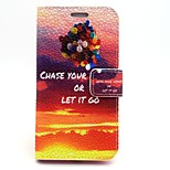 Novel Sunset Balloon Pattern Water Grain Leather PU Cover Case with Stand for iPhone 6G