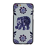 Blue Elephant Pattern PC Phone Case For iPhone 6