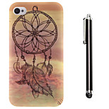 Dream Catcher Pattern TPU Soft Back and A Stylus Touch Pen for iPhone 4/4S