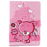 Cute little Bear  Pattern PU Leather Full Body TPU Case with Card Holder for Ipad Air 2/Ipad 6