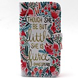 Lace Letter Pattern PU Material  Case for iPhone 4/4S
