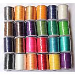 Beadia 160M/Lot  Korean 0.5mm Waxed Cotton Cord  10 Colors U-Pick Beading String