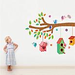 adesivos de parede parede ninho pvc etiquetas decalques de parede cores do estilo do pássaro