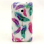 Colored Feathers Pattern Glitter TPU Cell Phone Soft Shell For Nokia Lumia N535 / Microsoft Lumia 535