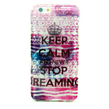 Never Stop  Pattern Glitter TPU Cell Phone Soft Shell  For iPhone 6