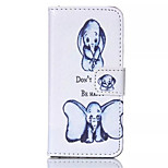 Two Dumbo Pattern PU Leather Phone Case For iPhone 5/5S