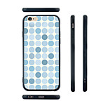 Blue Dots Pattern Transparent Silicone Rubber Edge Hard Back Case for iPhone 6