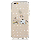 Happy little white like semi-transparent thin phone cases drawing iPhone6plus shell soft rubber material support