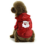 PETSOO Christmas Dog Clothes Red Winter Small Pet Jacket