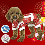 PETSOO Dog Clothing Chinese Tang Costume Winter Pet Jacket