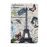 The Eiffel Tower Pattern PU Leather Full Body Case for iPad mini/mini2/mini3