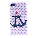 Anchors Pattern PC Material Phone Case for iPhone 4/4S