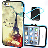 Transmission Tower Pattern TPU + PC Border Phone Case For iPhone 5/5S
