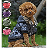 PETSOO Winter Dog Clothes Classic zipper design Pet Coat