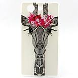 Giraffe Pattern TPU Material Soft Phone Case for Sony Z3 Mini