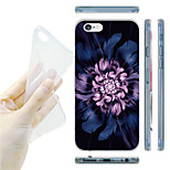 Purple Flower Pattern TPU Soft Back Case for iPhone 6/6S