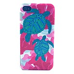 Sea Turtle Pattern PC Material Phone Case for iPhone 4/4S