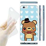 Cartoon Gentleman Bear Pattern TPU Soft Back Case for iPhone 6