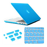 3 in 1 Matte Case with Keyboard Cover and Silicone Dust Plug for Macbook Air 11.6 inch (Assorted Colors)