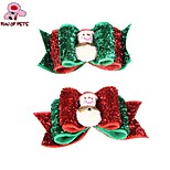 FUN OF PETS® Christmas Serie Snowman Pattern Rubber Band Hair Bow for Pet Dogs(Random Colour)