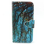 Blue Woods Pattern PU Leather Material Card Full Body Case for iPhone 5/5S