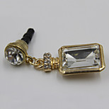 Fashion Alloy/Glass Gold Bottle With Crystal Pendant Dust Plug General Type