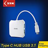 SSK® Type C USB 3.1 Gen 1 Hub with 4 Ports High Speed Transfer