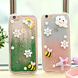 Cute Cartoon Gradient Design TPU Soft Back Case Cover for iPhone 5/5S(Assorted Colors)