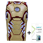 Disney Marvel Avengers Iron Man Cover Case for Iphone5G/5S Free with Headfore Screen Protector for Iphone5G/5S - MK42