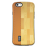 Wood Grain  Pattern PC + TPU Drop Resistance  Phone Shell For iPhone 6