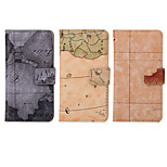 4.6 Inch Map Pattern PU Wallet Leather Case with Stand for SONY Z4 mini(Assorted Colors)